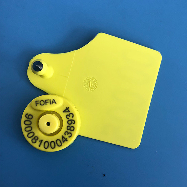 TPU Livestock Rfid Ear Tags For Cattle Animal Management , ICAR Certificate