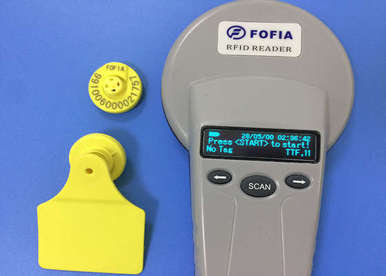 Çin Electronic RFID Ear Tag For Animal Breeding And Slaughter Management Fabrika